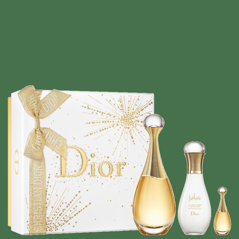 Conjunto J'adore Dior Feminino - Eau de Parfum 50ml + Loção Corporal 75ml + Miniatura 5ml