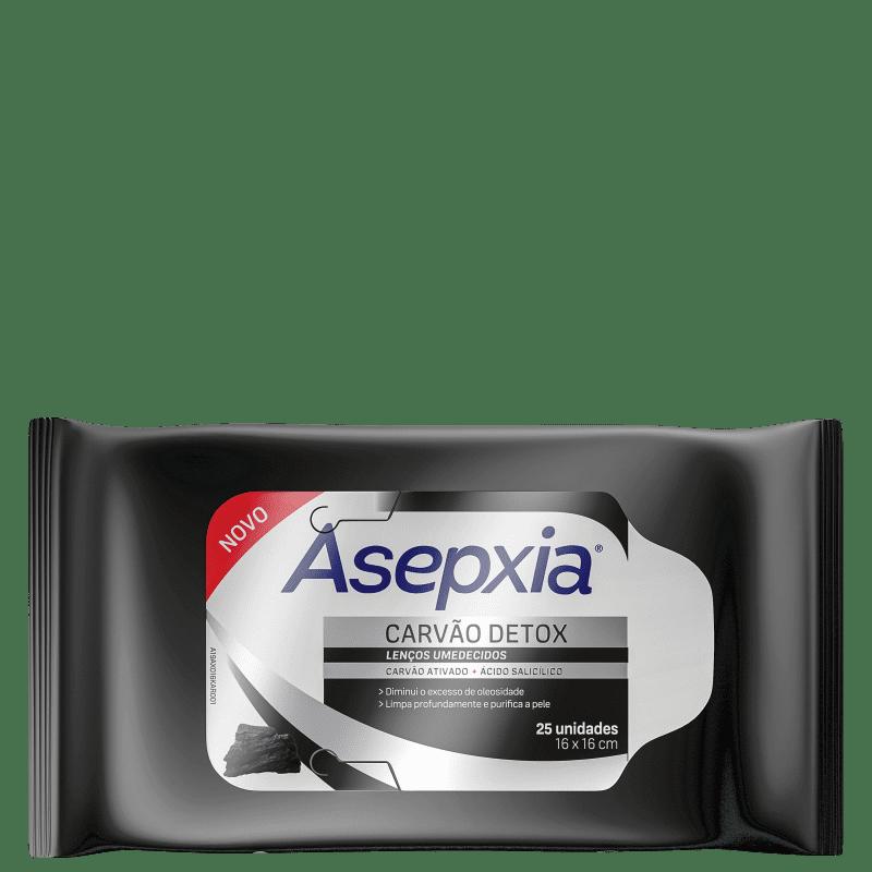 Asepxia Carvão Detox - Lenço de Limpeza (25 Unidades)