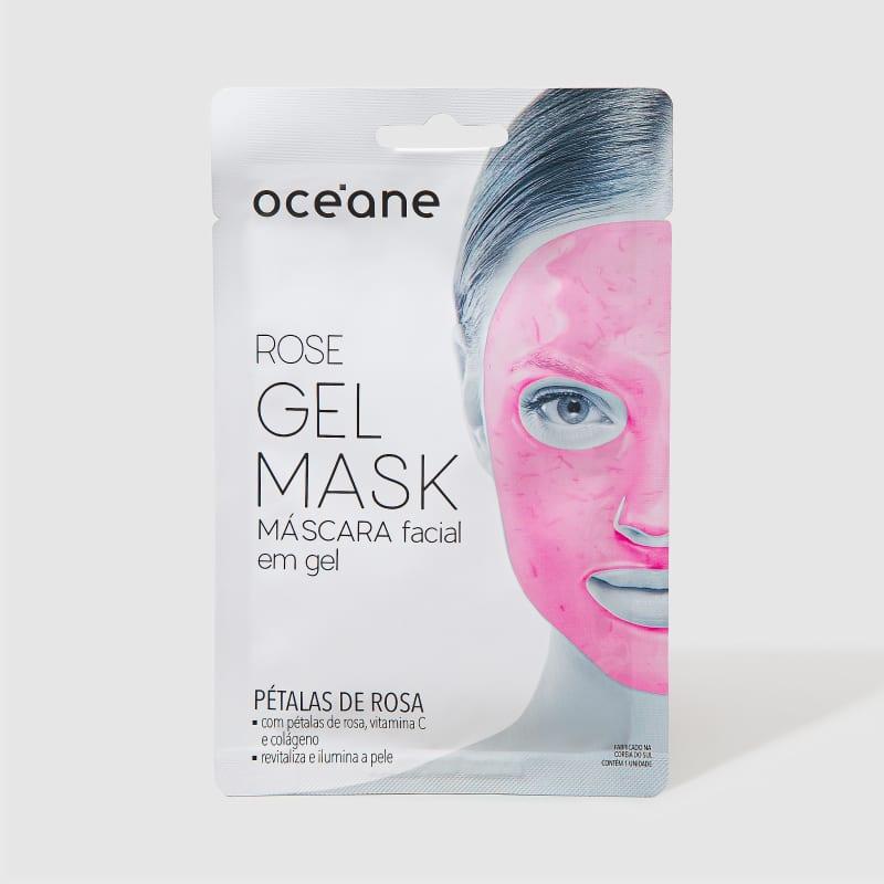 Rose Gel Mask - Máscara facial em gel com pétalas de rosas