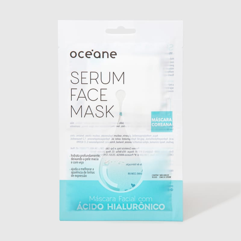 Serum Face Mask - Máscara Facial com Ácido Hialurônico