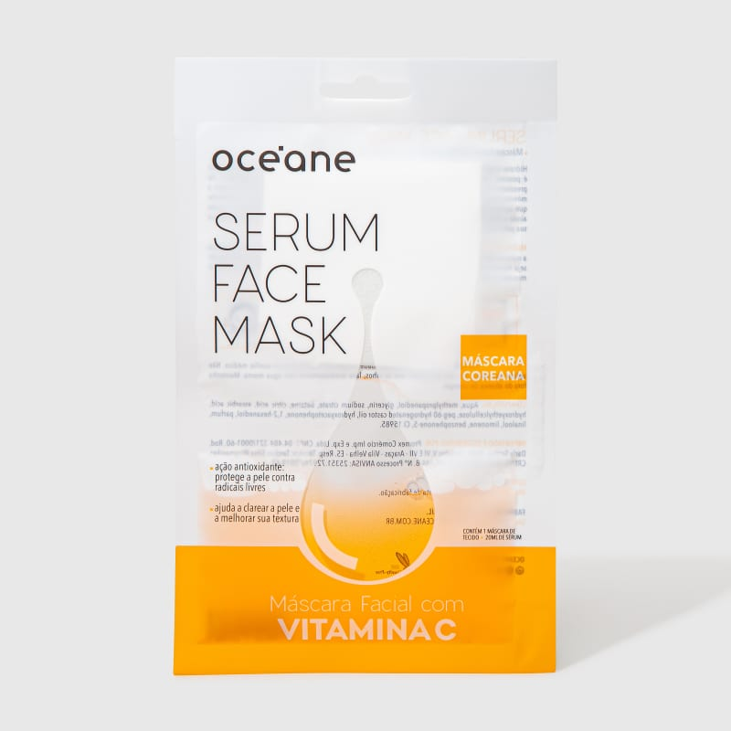 Serum Face Mask - Máscara Facial com Vitamina C