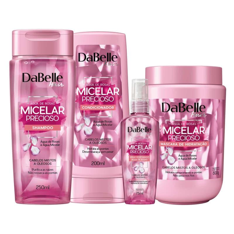 Kit DaBelle Micelar Precioso Água de Rosas (4 Produtos)