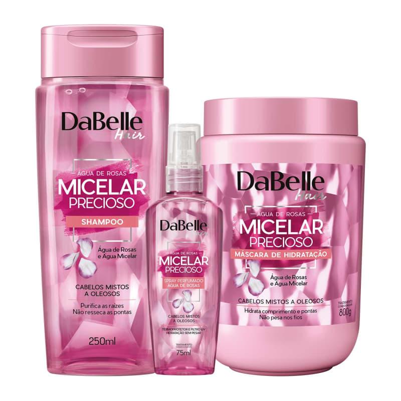 Kit DaBelle Micelar Precioso Água de Rosas Trio
