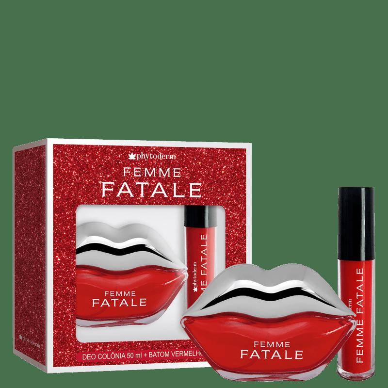 Conjunto Femme Fatale Phytoderm Feminino - Deo Colônia 50ml + Batom Líquido 4ml