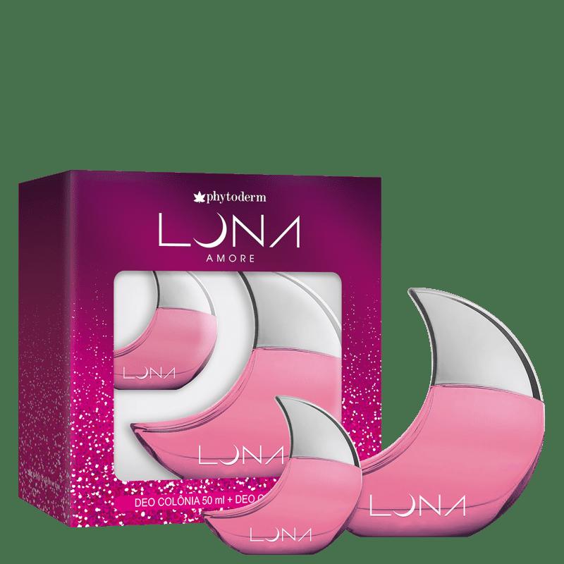 Conjunto Luna Amore Phytoderm Feminino - Deo Colônia 50ml + Deo Colônia 15ml