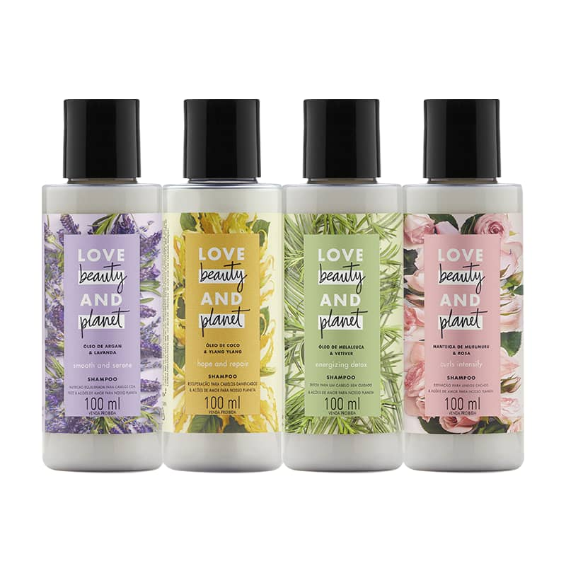 Kit Love, Beauty and Planet - 4 Shampoos 100ml