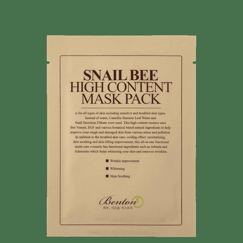 Benton Snail Bee High Content - Máscara Facial 20g