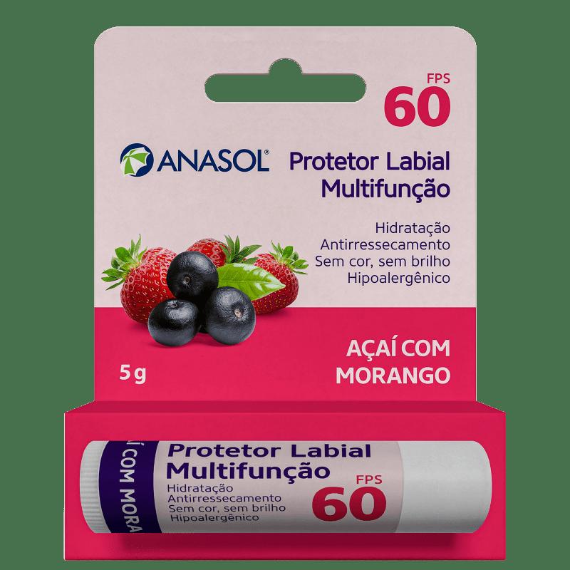 Anasol Açaí com Morango FPS 60 - Protetor Labial 5g