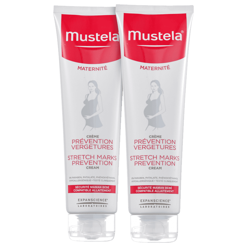 Kit Mustela Maternité Prévention Vergetures - Creme para Estrias 2x150ml