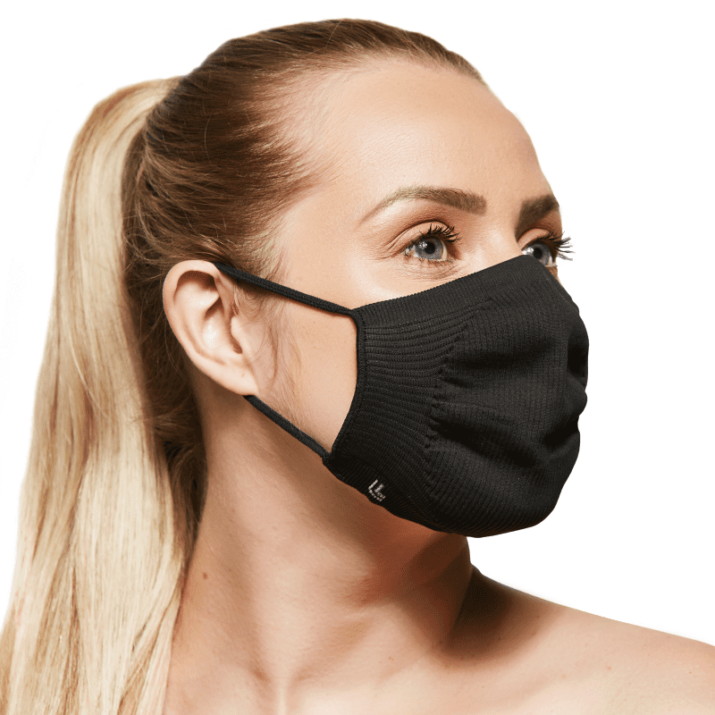 Lupo Vírus Bac-Off Preta - Máscara de Proteção (2 Unidades)