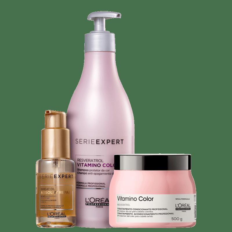 Kit L'Oréal Professionnel Serie Expert Vitamino Color Resveratrol Repair (3 Produtos)