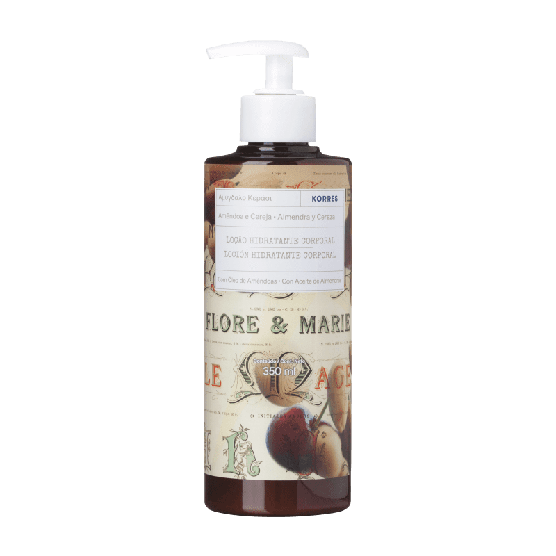 Korres Amêndoa e Cereja – Loção Desodorante Hidratante Corporal - 350ml