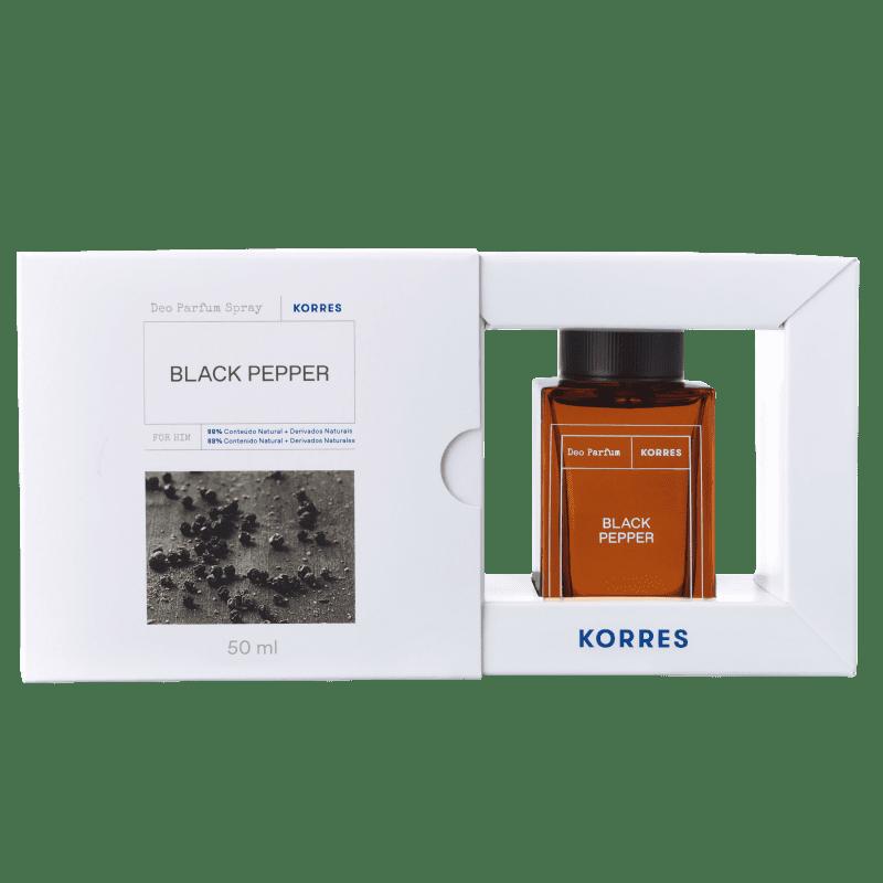 Korres Black Pepper Desodorante Parfum Spray – Fragrância Masculina - 50ml