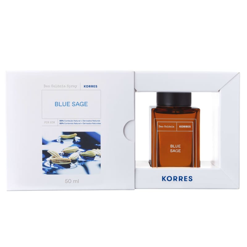 Korres Blue Sage Desodorante Colônia Spray – Fragrância Masculina - 50ml