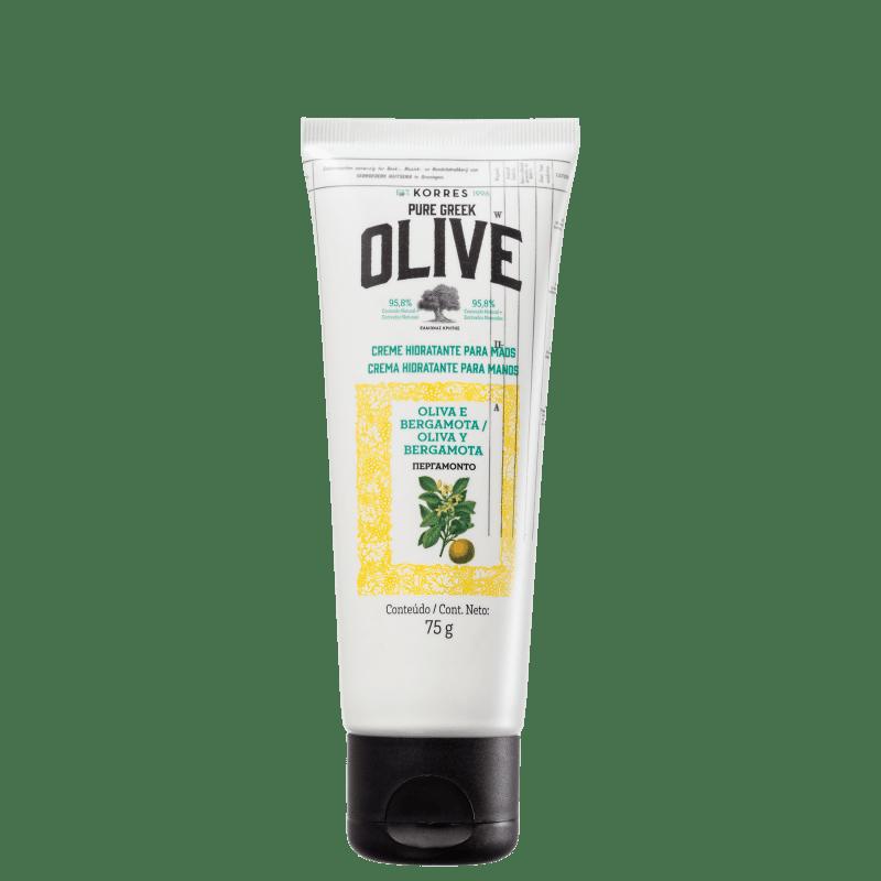 Korres Pure Greek Olive Oliva e Bergamota - Creme para as Mãos 75ml