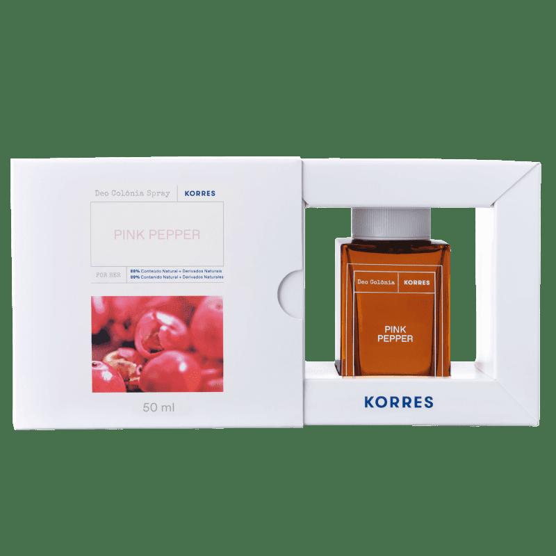 Novo Korres Pimenta Rosa Desodorante Colônia Spray – Fragrância Feminina - 50ml