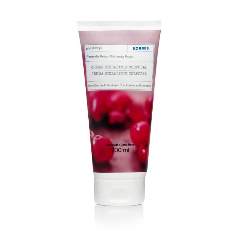 Novo Korres Pimenta Rosa Creme Desodorante Hidratante Corporal - 200ml