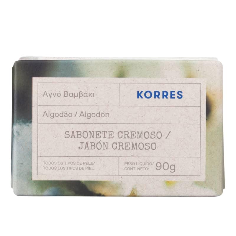 Korres Algodão Sabonete em Barra – 90g