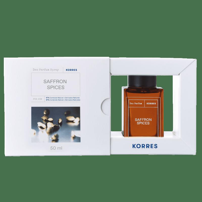 Korres Saffron Spices Desodorante Parfum Spray – Fragrância Masculina - 50ml