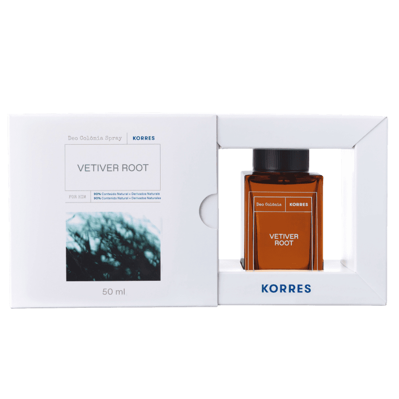 Korres Vetiver Root Desodorante Colônia Spray – Fragrância Masculina - 50ml
