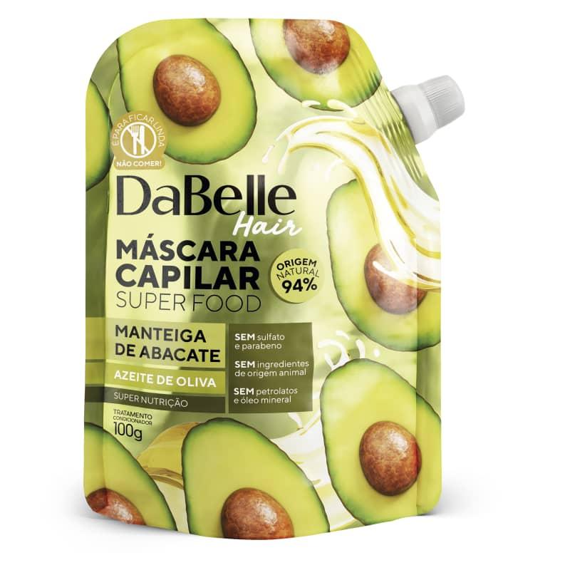 Dabelle Super Food Máscara Manteiga Abacate e Azeite Oliva 100g