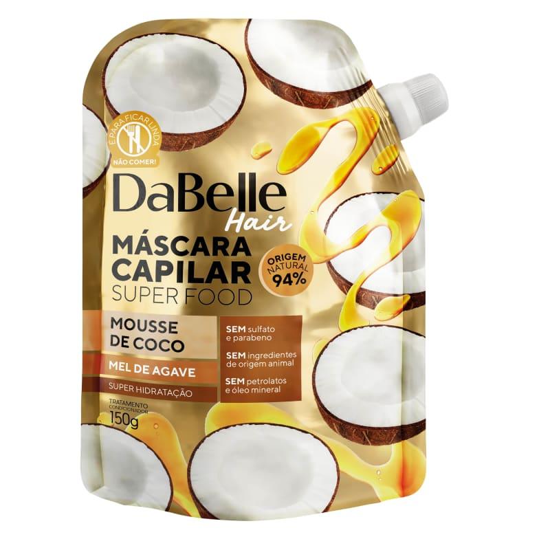 Dabelle Super Food Máscara Mousse Coco e Mel Agave 150g