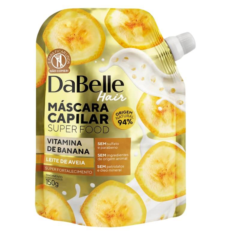 Dabelle Super Food Máscara Vitamina Banana e Leite Aveia 150g