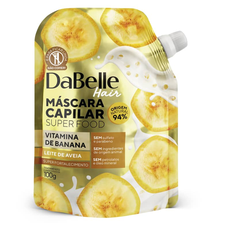 Dabelle Super Food Máscara Vitamina Banana e Leite Aveia 100g