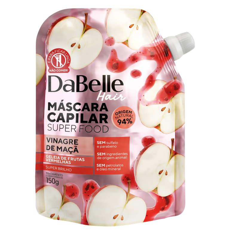 Dabelle Super Food Máscara Vinagre Maça e Geleia Frutas 150g