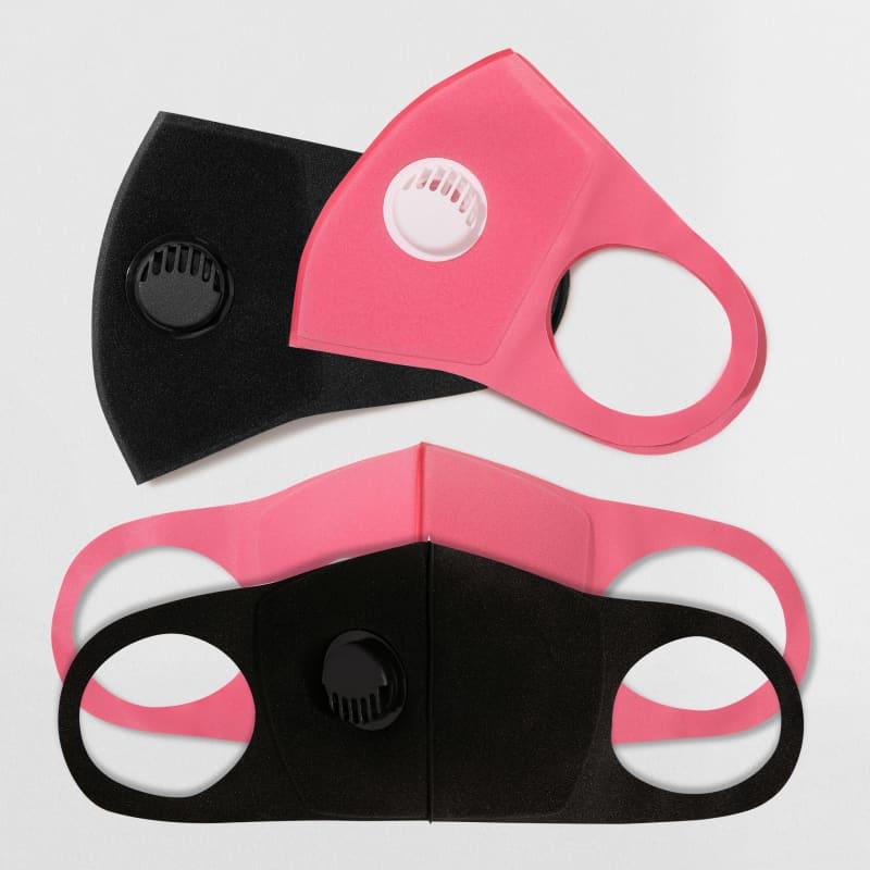 Kit 2 Máscaras de Proteção Preta + 2 Máscaras de Proteção Rosa