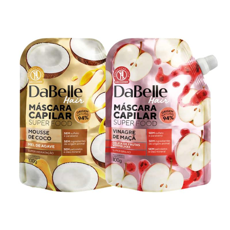 Kit DaBelle Super Food Mousse de Coco e Mel de Agave + Vinagre de Maçã e Geleia de Frutas