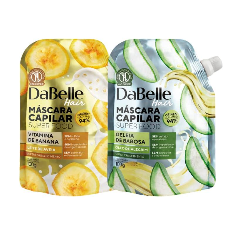 Kit DaBelle Super Food Vitamina de Banana e Leite de Aveia + Geleia de Babosa e Óleo de Alecrim