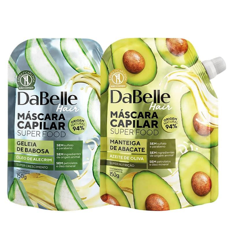 Kit DaBelle Super Food Manteiga de Abacate e Azeite de Oliva + Geleia de Babosa e Óleo de Alecrim - 150g