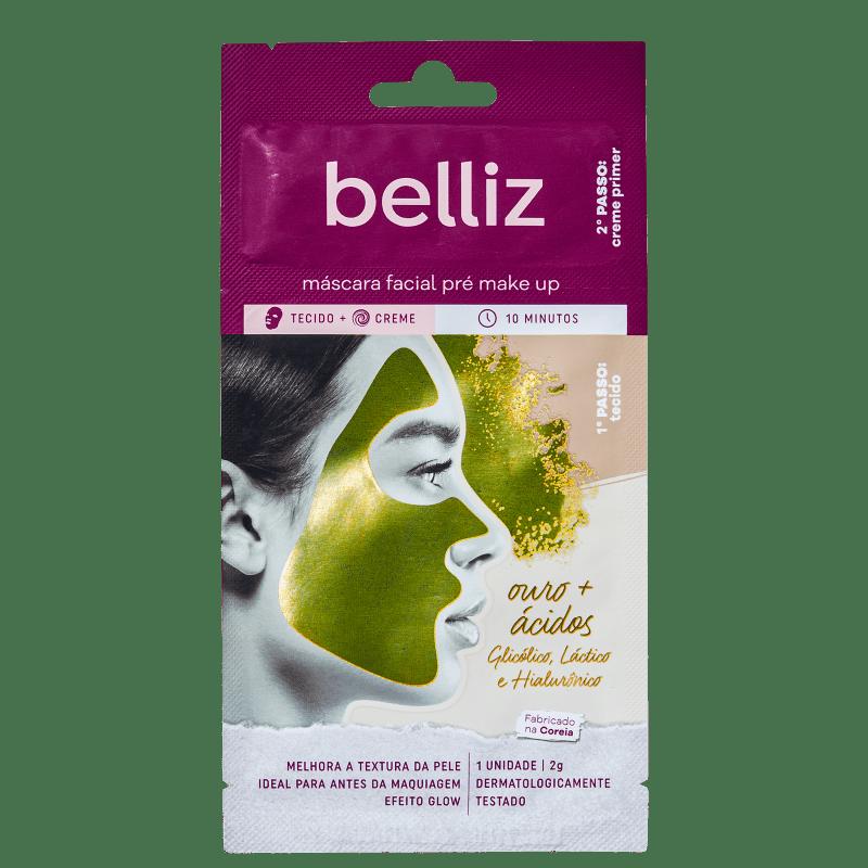 Belliz Pré Make Up Ouro - Máscara Facial (1 Unidade)