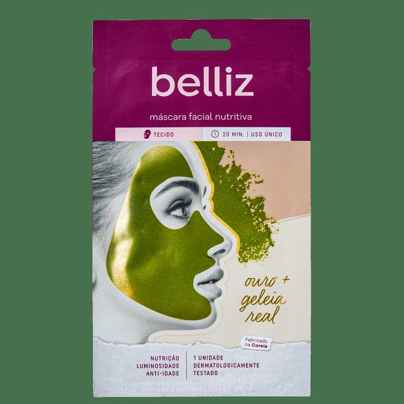 Belliz Nutritiva de Ouro + Geleia Real - Máscara Facial (1 Unidade)