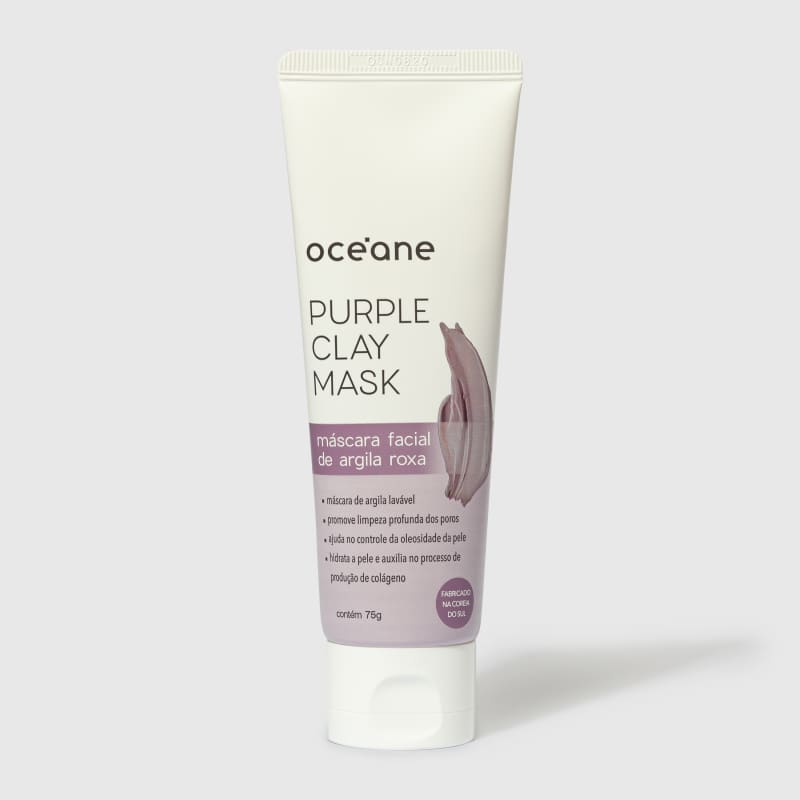 Purple Clay Mask - Máscara Facial de Argila Roxa