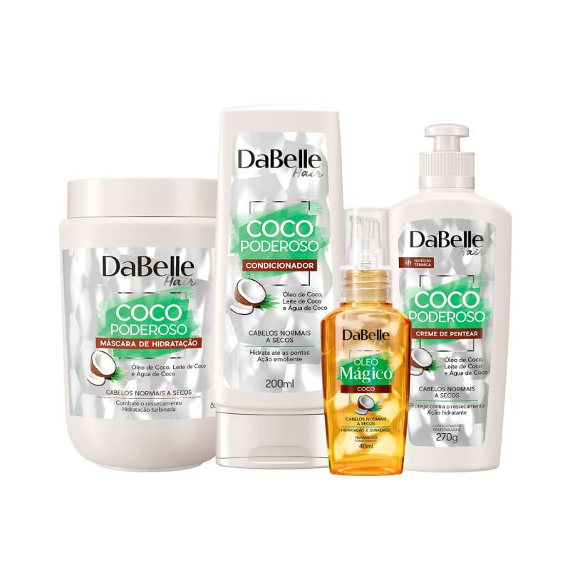 Kit DaBelle Coco Poderoso com foco em tratamento (4 produtos)