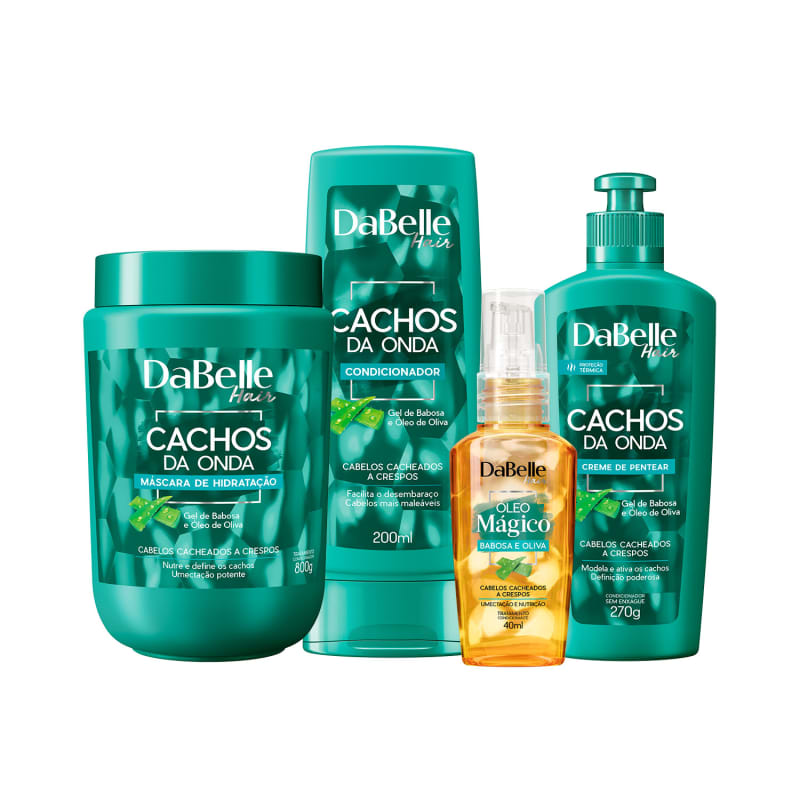 Kit DaBelle Cachos da Onda com foco em tratamento (4 produtos)