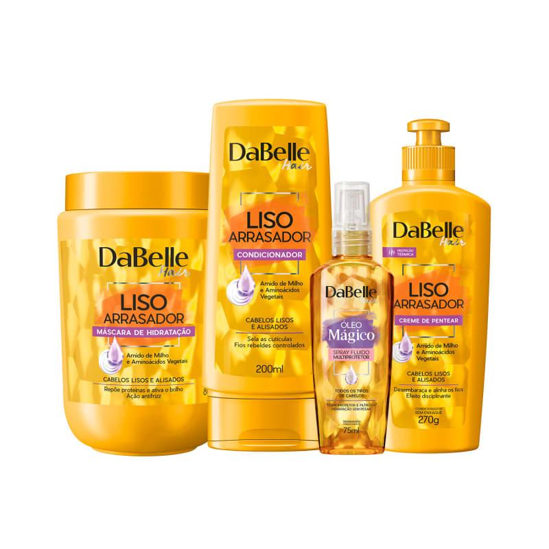 Kit DaBelle Liso Arrasador com foco em tratamento (4 produtos)