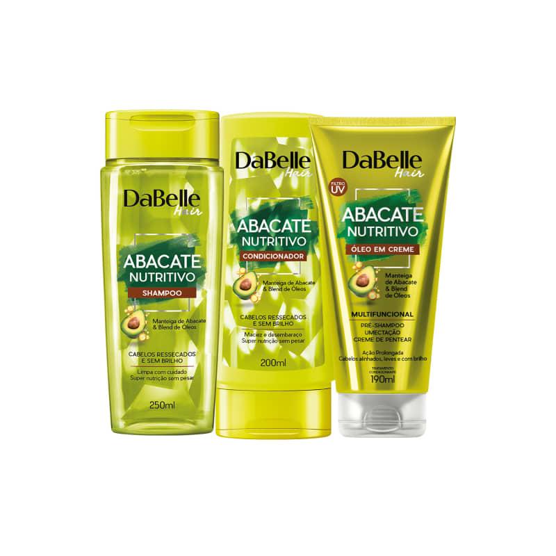 Kit Shampoo e Condicionador Abacate Nutritivo + Óleo em creme