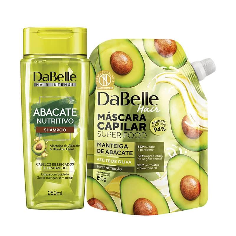 Kit Shampoo Abacate Nutritivo + Super Food Manteiga de Abacate e Azeite de Oliva