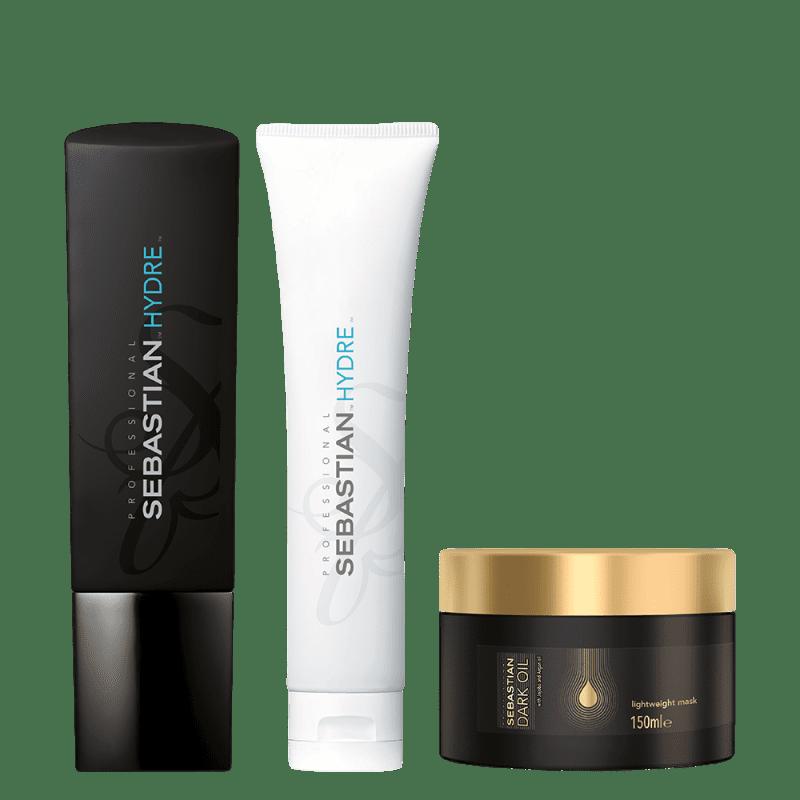 Kit Sebastian Professional Hydre e Dark Oil (3 Produtos)