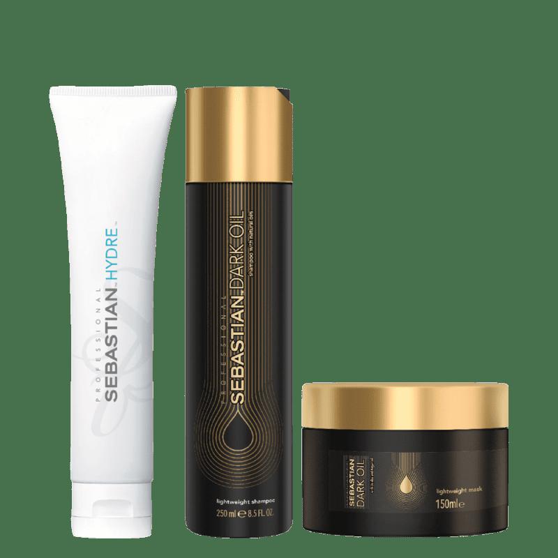 Kit Sebastian Professional Dark Oil e Hydre (3 Produtos)