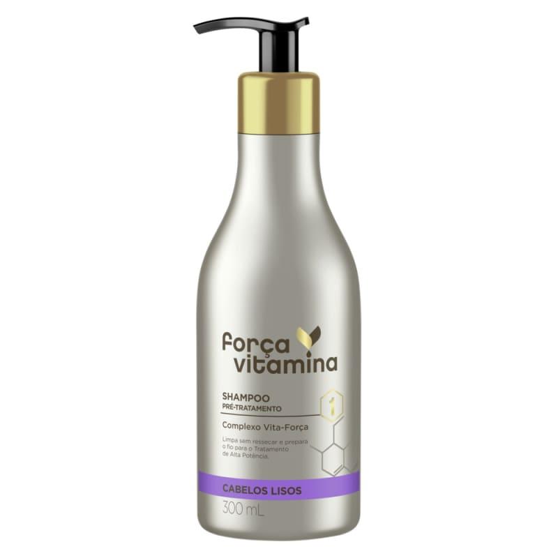 Shampoo Pré-Tratamento Força Vitamina Cabelos Lisos 300mL
