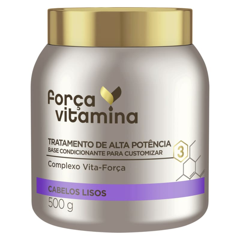 Máscara de Alta Potência para Customizar Força Vitamina Cabelos Lisos 500g