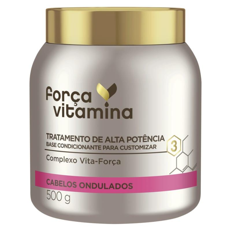 Máscara de Alta Potência para Customizar Força Vitamina Cabelos Ondulados 500g