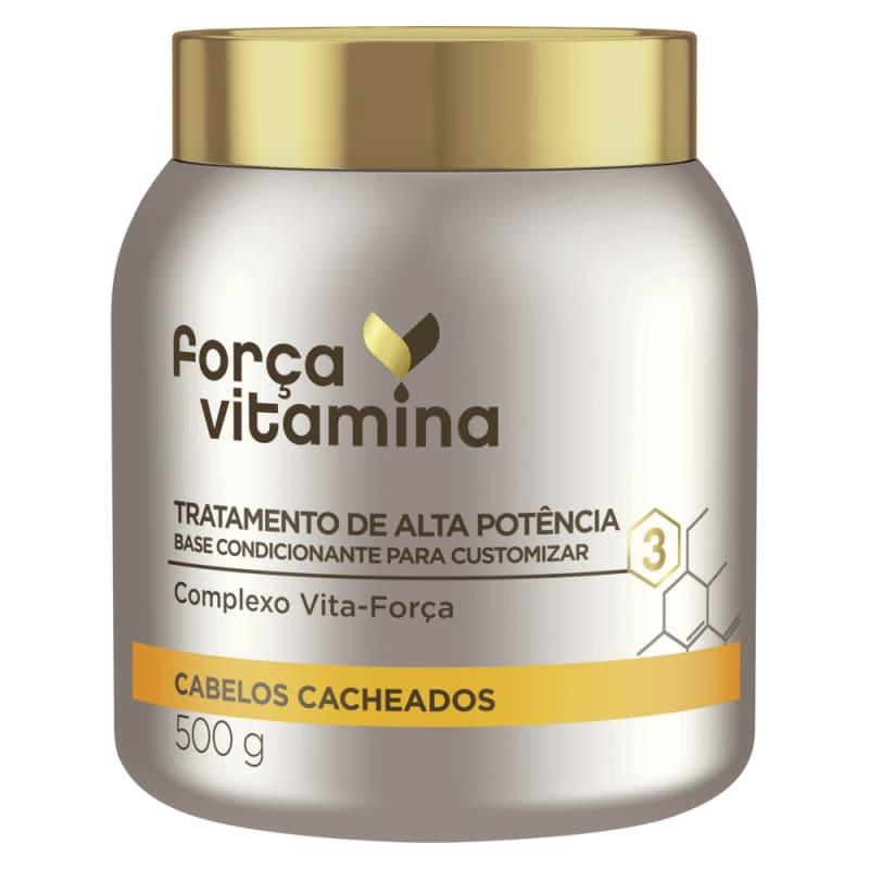 Máscara de Alta Potência para Customizar Força Vitamina Cabelos Cacheados 500g