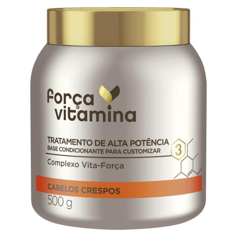 Máscara de Alta Potência para Customizar Força Vitamina Cabelos Crespos 500g
