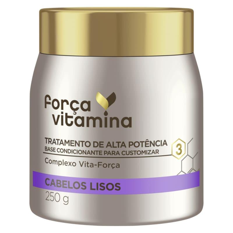 Máscara de Alta Potência para Customizar Força Vitamina Cabelos Lisos 250g