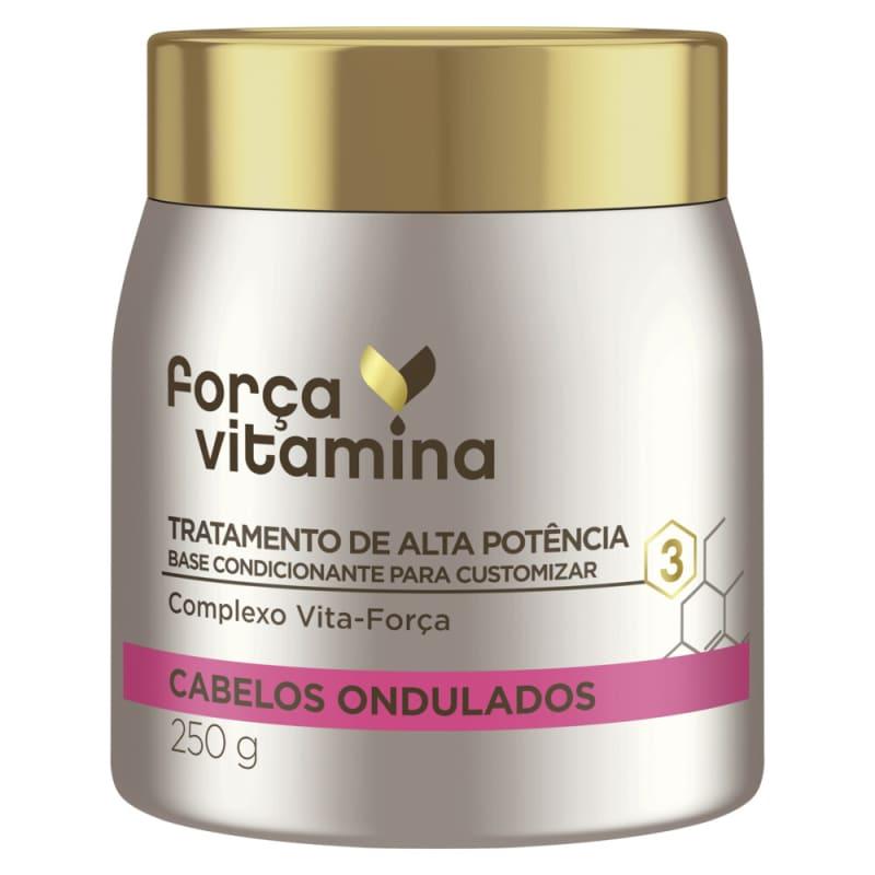 Máscara de Alta Potência para Customizar Força Vitamina Cabelos Ondulados 250g